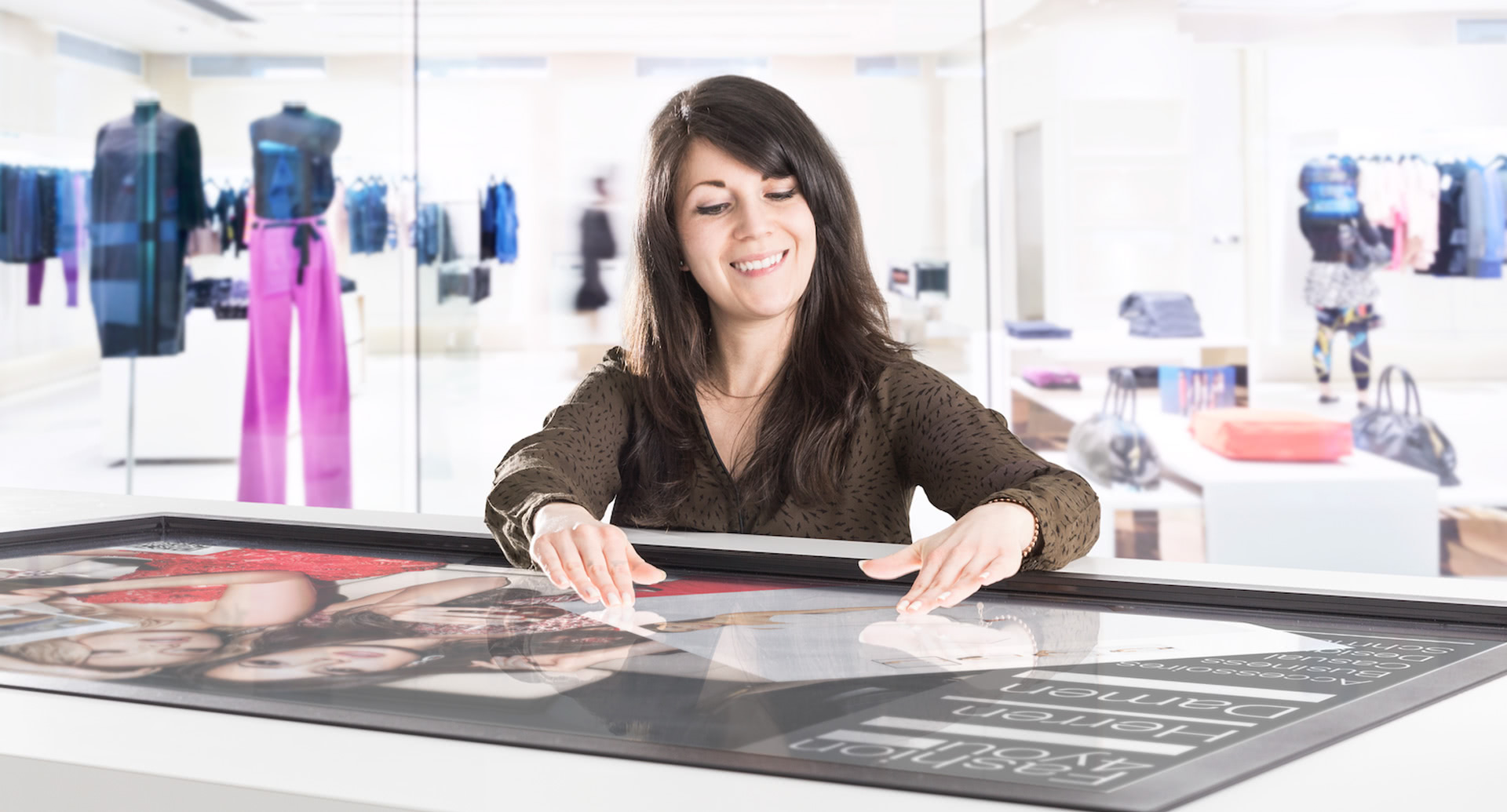 Beispiele Digital Signage: Multitouch