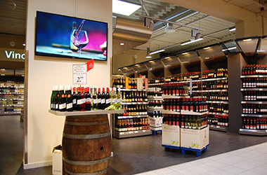 Digital Signage Supermarkt