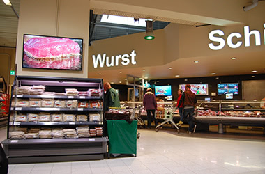 Digital Signage Lebensmittel